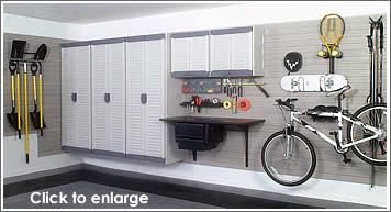 Garage Storage Wall And Cabinets